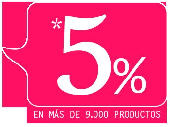 5% en toda la web
